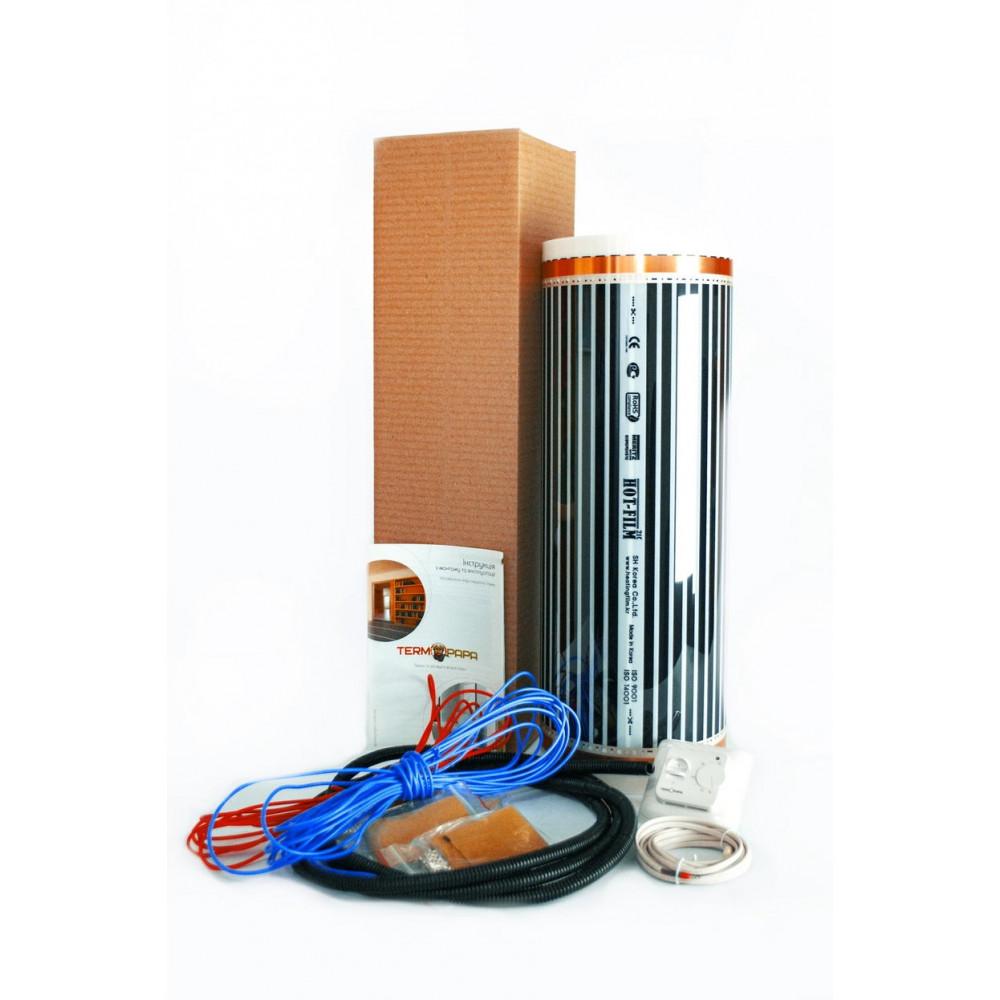 Комплект теплого пола HotFilm 4 м2  с терморегулятором RTC-70 (механика)