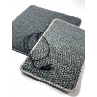 Электрический коврик нагревательный для ног, 50 х 63, Серый