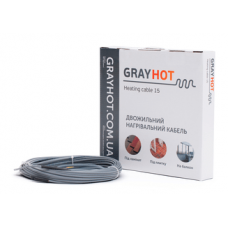 Нагревательный кабель Gray Hot 15/92 0,5-0,8 м2