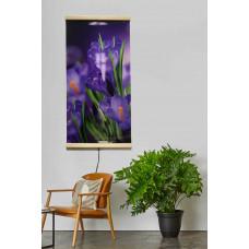 Настенный обогреватель-картина сиреневые цветы Крокусы №2